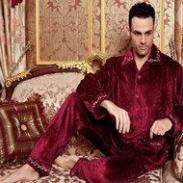 喜芬妮男士加厚美舒绒套装图片