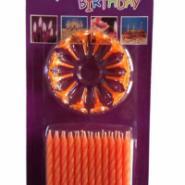 24支12花螺纹生日蜡烛图片