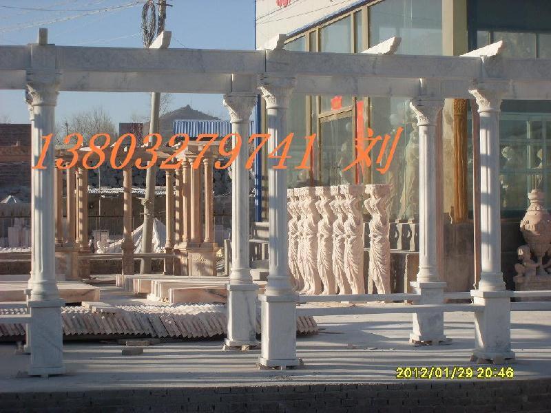 河北曲阳石雕凉亭图片
