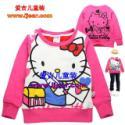 KT猫刷绒长袖童T恤2057玫红图片