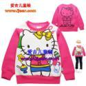 KT猫刷绒长袖童T恤8170玫红图片