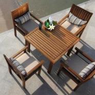 酒店户外家具酒店休闲柚木桌椅图片