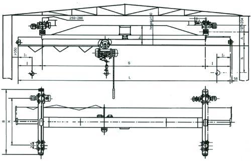 新乡ld1-10t单梁桥式起重机价格报价图片
