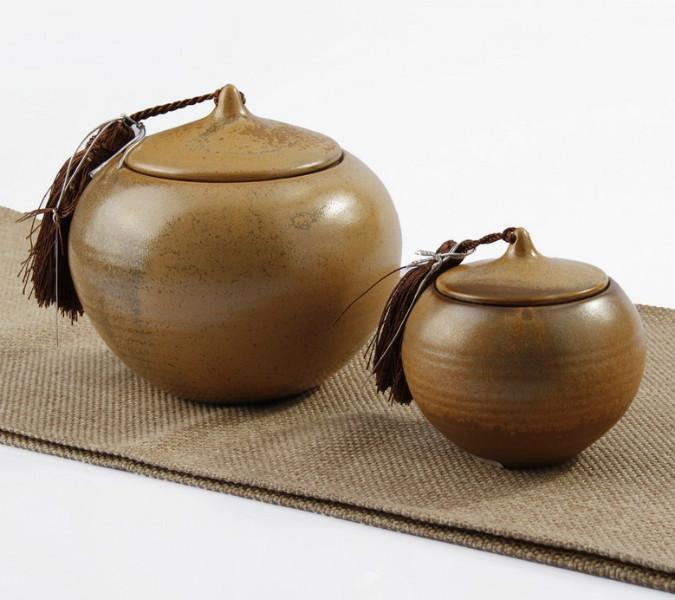 盛远/供应花釉茶叶罐图片