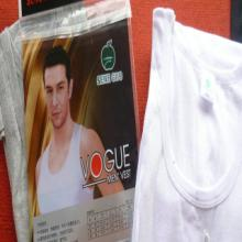 供应/苹果牌细罗纹时尚无袖8052全棉男士背心批发