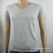 供应韩版紧身男式V领短袖T恤