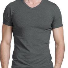 供应高品质男式V领短袖T恤