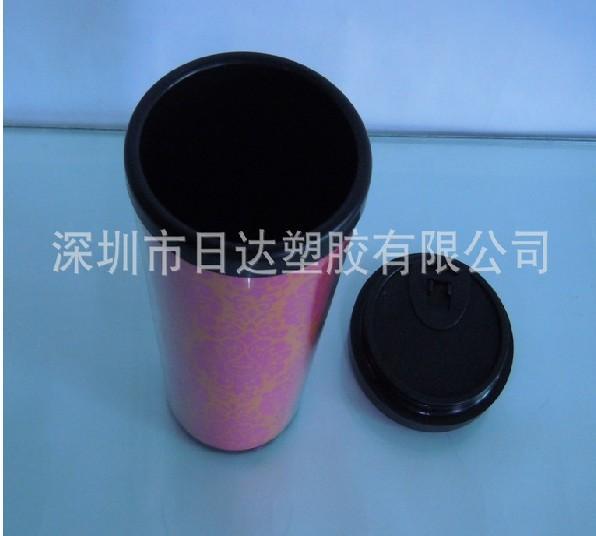 深圳厂家直销 富贵红星巴克双层广告杯 圆口礼品杯