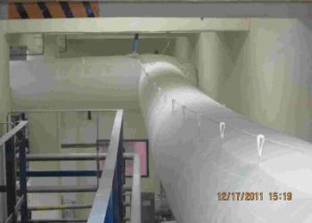 工业厂房通风用博新纤维织物风管图片