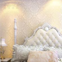 泰瑞素米白色墙纸欧式墙纸客厅无纺布壁纸电视墙背景墙纸卧室批发