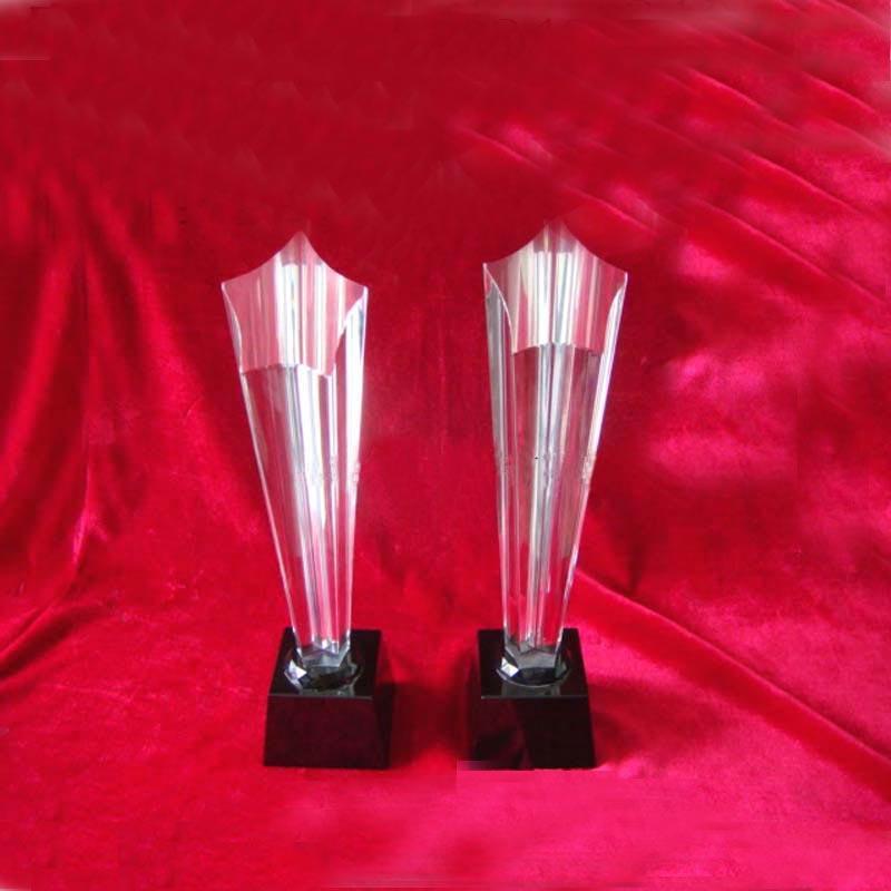 水晶奖杯图片 水晶奖杯样板图 西安水晶奖杯工艺品 西安中...