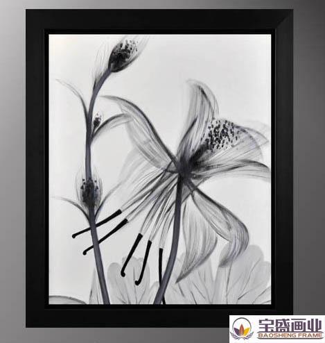 黑白手绘戏曲花旦