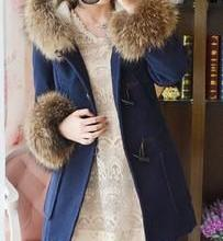 供应羊羔绒冬装中长款毛呢大衣
