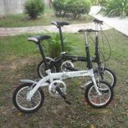 14寸双折叠自行车图片