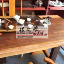 厂家直销奥坎菠萝格实木家具花梨木大板茶桌办公桌老板桌大班台