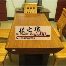 供应柚木办公台餐桌厂家批发红木办公桌书桌商务办公台原木大班台图片