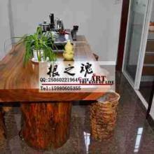厂家直销整套实木家具奥坎大板桌办公桌会议桌茶桌茶几会议桌
