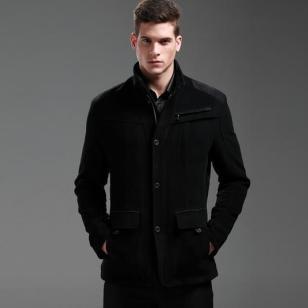 FXF立领时尚羊绒大衣图片
