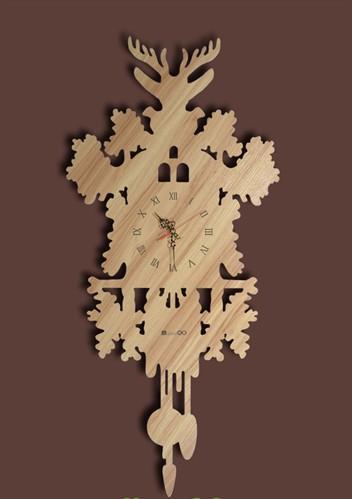 挂钟艺术挂钟造型挂钟工艺挂钟创意木挂钟小额批发生产