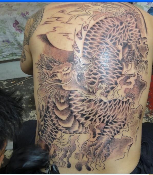 供应麒麟纹身,满背麒麟纹身,后背麒麟纹身图案