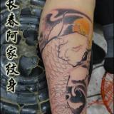 供应招财鱼纹身,长春招财鱼纹身