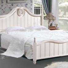 供应茉莉花白韩式田园床配套床头柜