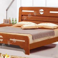 供应现代风格经典海棠木床包邮送床头柜
