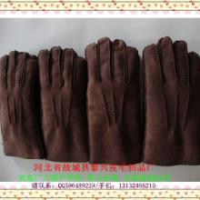 本厂订做供应麂皮绒仿皮毛一体羊皮手套帽子围巾来样加工各种新款