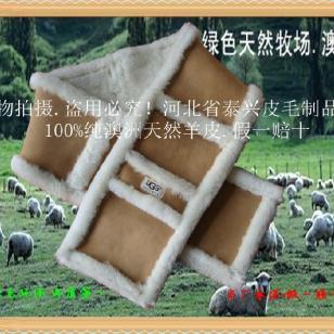 澳洲UGG美丽奴皮毛一体羊皮围巾图片