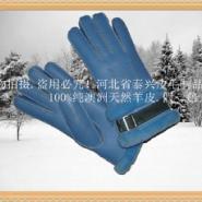 订做各种皮毛一体纯真羊皮保暖手套图片