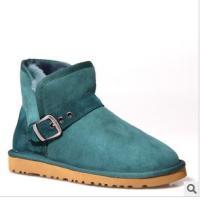 女式墨绿雪地靴