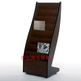 北京木质资料架移动杂志架售楼处架图片
