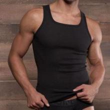 供应男士螺纹棉工字背心舒适运动健身方领健美内衣批发
