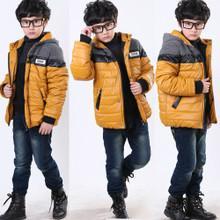 男童棉衣冬装2012儿童外套中大童加厚棉袄新款时尚拼接款男款批发