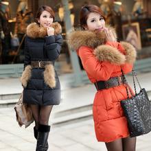 新款正品韩版加厚皮草羽绒服外套女装中长款厂家直销批发批发