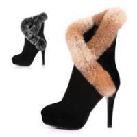 2012秋冬季新款女鞋兔毛棉靴子