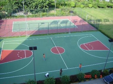 篮球场施工图片/篮球场施工样板图 (2)