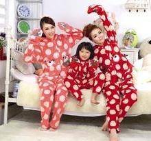 独家亲子装冬季套装珊瑚绒儿童睡衣批发