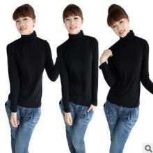供应2013秋冬新款韩版女装时尚T恤女款新款修身T恤高领打底衫批发