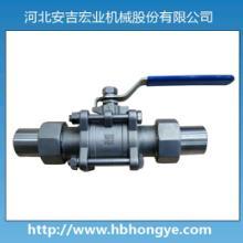 供应优质三件式活接对焊球阀 质量上乘 工艺先进图片