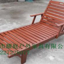 供应三亚酒店泳池沙滩椅/泳池木躺椅,进口木材批发