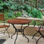 上海户外实木桌椅/上海休闲木桌椅图片