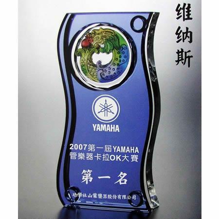 供应水晶高档琉璃奖杯图片