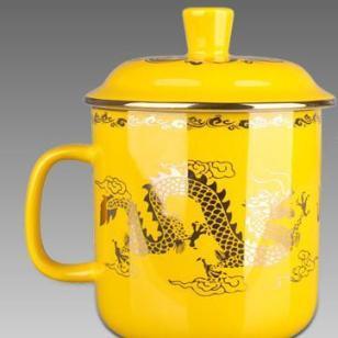 中国帝王黄瓷帝王黄瓷金蒋军杯图片