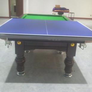 巧克力色台球桌乓乓台二合一图片