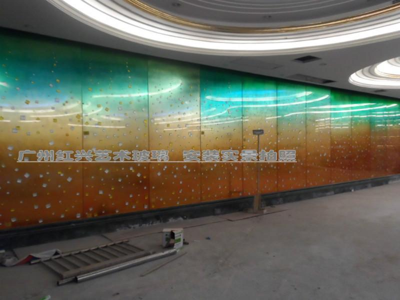 供应商业写字楼洒店大堂家装艺术玻璃背景墙,隔断,玄关欢迎来电