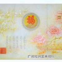 广州红兴供应各种中式欧式背景隔断玄关艺术玻璃最专业的生产厂家
