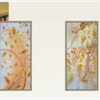 广州红兴供应大堂酒店背景电视背景墙系列专业生产艺术玻璃厂家