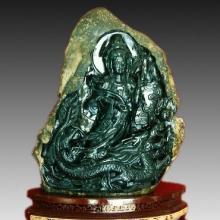 供應玉雕產品觀音顯聖圖片