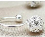 925纯银镶锆石钻石耳图片